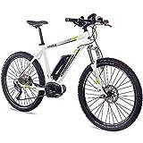 27,5 Zoll E-BIKE Mountainbike Pedelec Elektrofahrrad CHRISSON E-MOUNTER 1.0 BOSCH PLINE & ACERA 3000 weiss 52cm