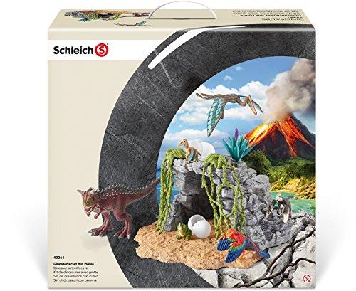 Schleich 42261 - Dinosaurierset mit Höhle