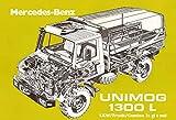 Unimog 1300L bau anleitung schild aus blech, metal sign, tin