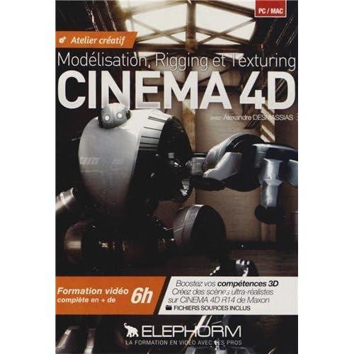 Atelier créatif Cinéma 4D. Formation vidéo complète en + de 6h. Modélisation, Rigging et Texturing. Boostez vos compétences 3D. Créez des scènes ... sur Cinema 4D R14 de Maxon. (Dvd-rom PC)