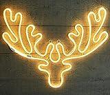 Neon Beleuchtung Hirschkopf 75x55cm