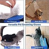 Haustier Bürsten Handschuh Fellpflege-Handschuh Grooming Massagehandschuh Hundebürste Katzenbürste Fellbürste für Hunde Katzen JAANY - 2