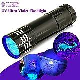 MMRM Aluminium UV Ultra Violet 9 LED AAA Lampe Torche Lampe de Poche Lumière