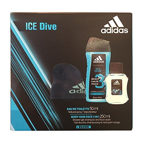 adidas ice dive Geschenkset (Eau de toilette 50ml, Body hair face 3in1 shower gel, shampoo & face wash 250ml)