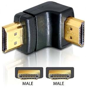 DELOCK Adapter HDMI Stecker > HDMI Stecker 90 Grad unten