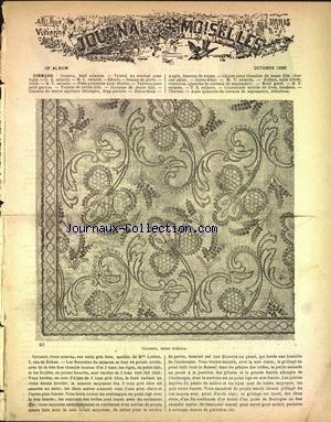 JOURNAL DES DEMOISELLES PARIS [No 10] du 01/10/1890