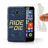 Stuff4 Gel TPU Hülle / Case für Microsoft Lumia 640 XL / Ride or Die Muster / Straßenrennen Kollektion