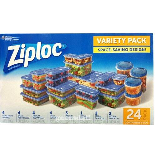 ziploc-lot-de-24-boites-de-rangement-avec-couvercles