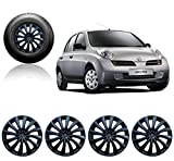 #7: Auto Pearl - Premium Quality Car Black Wheel Cover Caps 14 Inches Press Type Fitting For - Nissan Micra