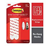 Command 17023PES Mounting Refill Strips  Large, Pack of 1 (6 Strips)  white