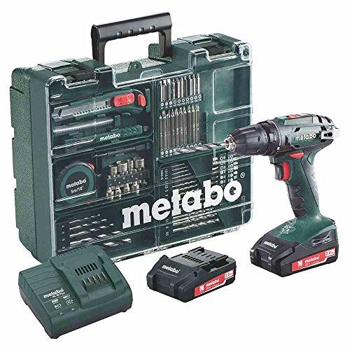 Metabo BS 18 Akkuschrauber Set 2,0 Ah | Akkuschrauber + Koffer 74-teilig