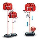 Best Basketball Nets - 1.7M Adjustable Kids Basketball Set Back Board St Review