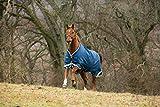 Horseware Rambo Original leg Regendecke oder Winterdecke 145cm 100g Denim Blue, Lime Green & Mustard