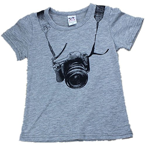sunnymi Mode ★ Boy Short Sleeve ★T-Shirt/Sommer Herbst Kind Kind Kamera Tops O Ansatz (1-2 Jahre alt)