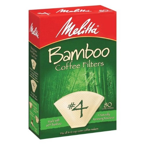 80 Count Bamboo Filters Size: 4 by Melitta