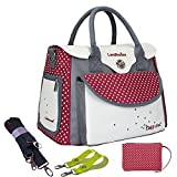 LANDHOUSE Women's Baby Diaper Nappy Bag Tote Redgray by LANDHOUSE immagine