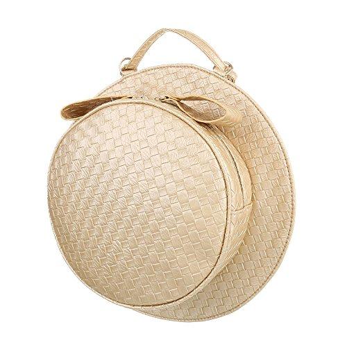Ital-Design, Borsetta da polso donna Gold Beige