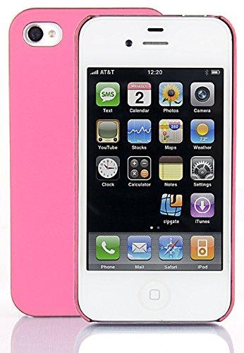 Gameboy Silikon Case Hot Pink & Displayschutzfolie für Apple iPhone 4 4S-Original JAMMYLIZARD & Hybrid - HELLROSA