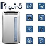 De'Longhi Pinguino PAC AN98 ECO Silent - mobiles Klimagerät mit Abluftschlauch, Klimaanlage für Räume bis 95 m³, Luftentfeuchter, Ventilationsfunktion, 24h-Timer, 2,7 kW, 75 x 45 x 39,5 cm, weiß/blau - 7