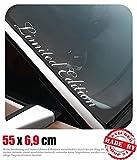 Limited Edition Frontscheibenaufkleber 55,0 cm x 6,9 cm Auto Aufkleber JDM OEM Tuning Sticker Decal 30 Farben zur Auswahl