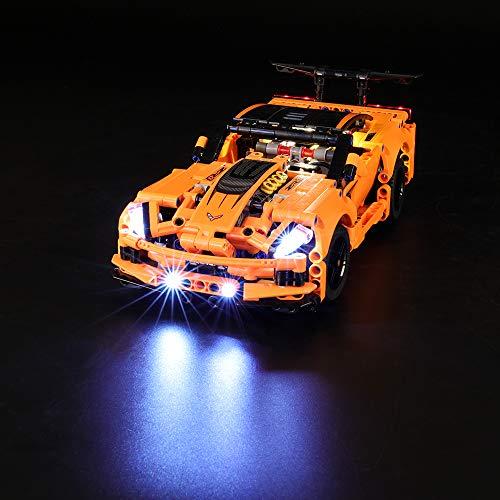 LIGHTAILING Conjunto de Luces (Technic Chevrolet Corvette ZR1) Modelo de Construcción de Bloques - Kit de luz LED Compatible con Lego 42093 (NO Incluido en el Modelo)