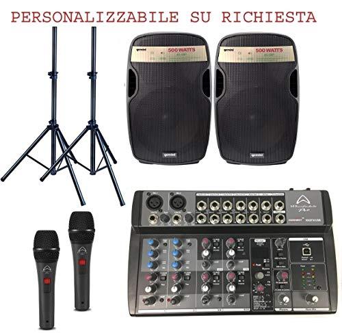 813 PACK - IMPIANTO AUDIO COMPLETO PER DJ PUB DISCOBAR KARAOKE