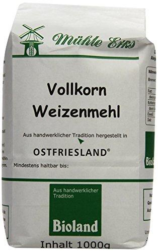 Erks Bio Vollkorn- Weizenmehl, 8er Pack (8 x 1 kg)