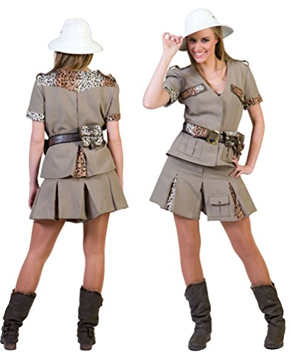 dschungel kostuem damen Karneval-Klamotten Safari Kostüm Damen sexy Karneval Dschungel Damenkostüm Größe 44/46