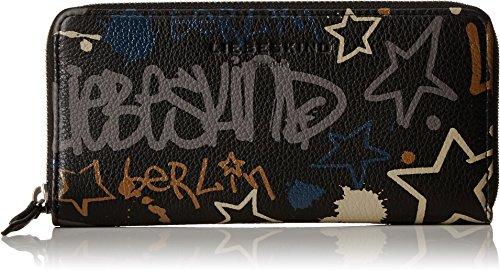 Liebeskind Berlin Damen Sallyh7 Graffi Geldbörse, Mehrfarbig (Oil Black Graffiti), 3 x 10 x 19 cm (Cross-geldbörse)