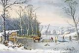 Artland Qualitätsbilder I Wandtattoo Wandsticker Wandaufkleber 30 x 20 cm Landschaften Vier Jahreszeiten Graphische Kunst Weiß B9RU Winterlandschaft