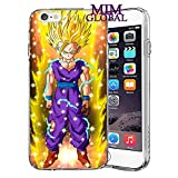 MIM Global Dragon Ball Z Super GT Etuis Coque Case Cover Compatible pour Tous iPhone (iPhone 5/5s/SE, Gohan SSJ2)