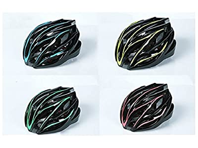 ADream Soft Durable Men Women One-Piece Helmet Adjustable Bike Helmet Porous Mountain Bicycle Helmet(Green+Black) by aDream