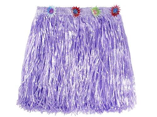 Trendmaus Aloha Hawaii Bastrock ca. 40 cm lang alle Farben, Farbe wählen:lila