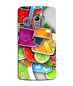 PrintVisa Designer Back Case Cover for Lenovo Vibe K4 Note :: Lenovo K4 Note A7010a48 :: Lenovo Vibe K4 Note A7010 (Awsome Modern Design New Rare Pattern)