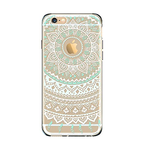 "Jinberry Totem Trasparente Custodia Protettiva in TPU Morbida per iPhone 4 (3.5"") Sottile Crystal Silicone Case Back Cover per Apple iPhone 4 - Mandala 01"