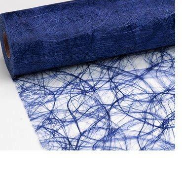 Unbekannt 25 m x 20 cm Sizoweb Vlies Original Tischband Tischläufer dunkelblau blau für Hochzeit, Weihnachten.