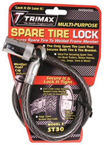 """Preisvergleich Produktbild Trimax ST30 Trimaflex Spare Tire Cable Lock (Round Key) 36"""" x 12mm"""