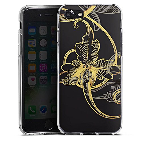 Apple iPhone X Silikon Hülle Case Schutzhülle Blume Blüte Floral Silikon Case transparent