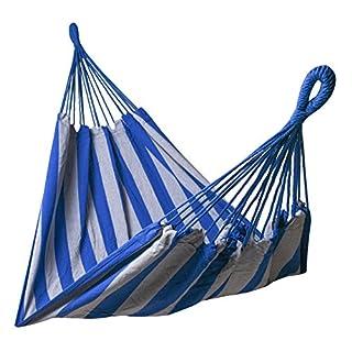 Kronenburg Hamac Multi-Personnes Bleu/Gris 210 x 150 cm Charge maximale 300 kg