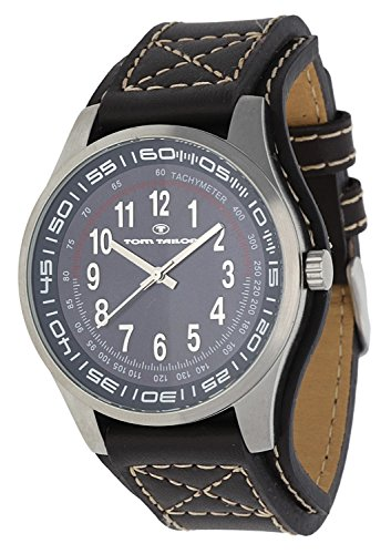 tom-tailor-5407302-montre-homme-quartz-analogique-bracelet-cuir-marron