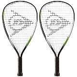 2 x Dunlop Biotec Titanium Racketball Rackets + 3 Balls RRP £90