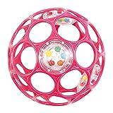 HCM Oball 28113 Pink Lochball mit Rassel Greifball Greifling Motorikball 10cm -