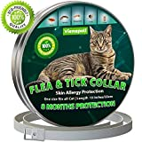 Cat Flea Treatment | Cat Collar | Flea and Tick Collar for Cats | 8 Months Effective Protection | Waterproof -Adjustable -Fits for Small Medium Large Pets | Puppy Collar | Flea Treatment Cat