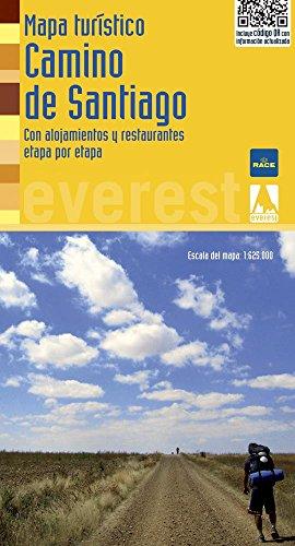 Mapa turístico del Camino de Santiago: Con alojamientos y restaurantes etapa por etapa (Mapas turísticos/serie amarilla)