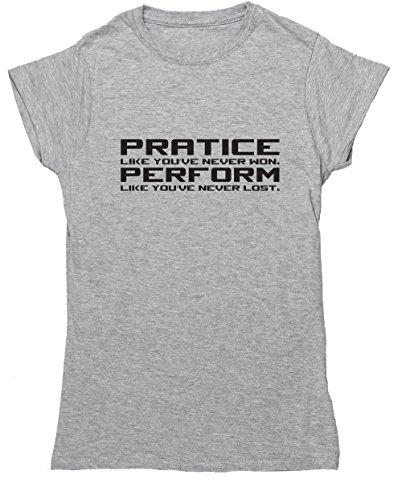 Hippowarehouse Damen T-Shirt Gr. Medium, Grau