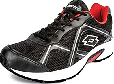 Lotto Men's Zest Black and Red Running Shoes - 11 UK/India (45 EU)