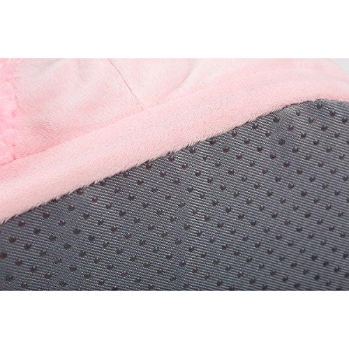 CuteOn Doux Peluche Licorne Chaussons, Intérieur Chaussons Footwear pour Hommes Femmes Rose 1