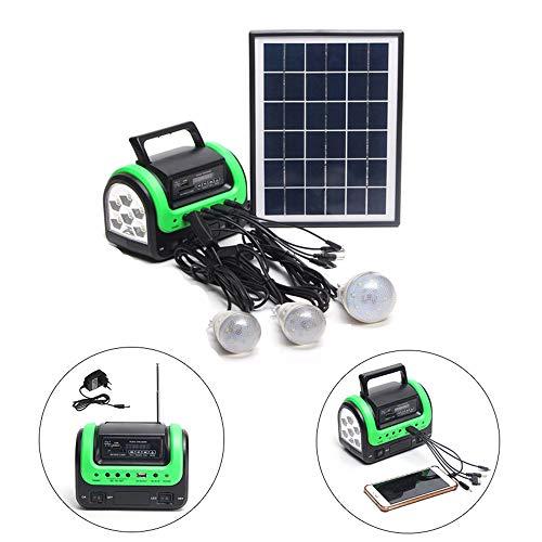 Tragbare LED-Solarzelle Solar-Notfall-Lade Generator Stromversorgung Mit LED-Licht Unterstützung USB-Disk/SD-Karte/FM-Funktion