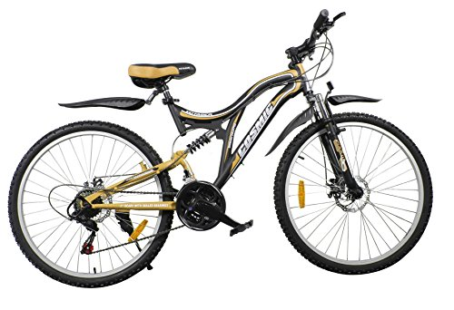 cosmic voyager 21 speed mtb bicycle black/gold-premium edition COSMIC VOYAGER 21 SPEED MTB BICYCLE BLACK/GOLD-PREMIUM EDITION 51 2Br15kl 2BtL