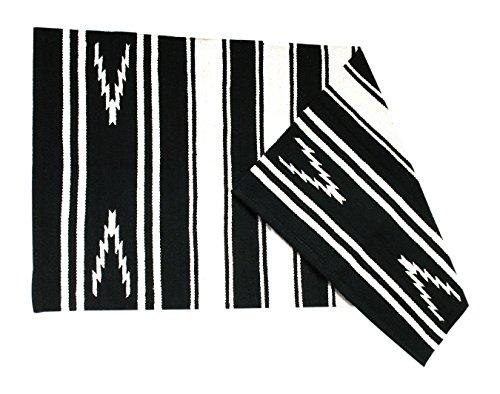JF-Reitsport Navajo Decke Delgado schwarz Western Satteldecke, One Size